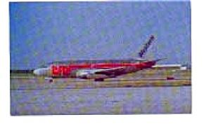 Western 737 Airline Postcard mar1567 (Image1)