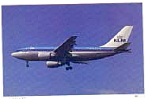 KLM A310 Airline Postcard mar1659 (Image1)