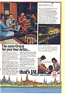 Japan Airlines Orient Tours Ad
