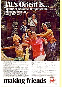 Japan Airlines Balinese Temples Ad Mar1669