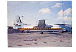 Busy Bee Fokker F-27 Airline Postcard Mar2153