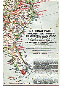 National Parks Shrines Us And Canada Map