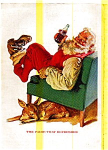 1958 Coca Cola Santa Claus Ad May0264