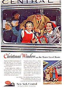 New York Central Rr Ad Christmas1953