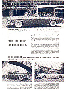 1952 Chrysler Concept Cars Ad