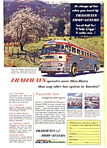 Trailways Bus LInes Thru-Liners Ad (Image1)