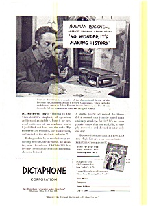 Dictaphone Norman Rockwell  Ad (Image1)