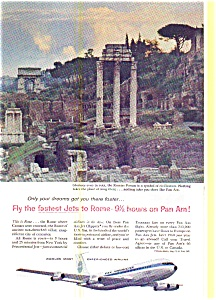Pan Am Jets To Rome Roman Forum Ad 1960