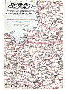 Poland And Czechoslovakia Map
