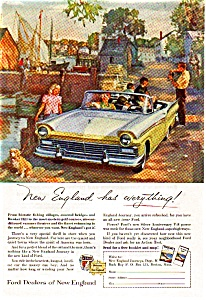 Ford Dealers Ad Apr 1957 National Geographic