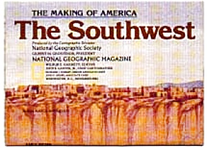 Far West Map National Geographic 1984