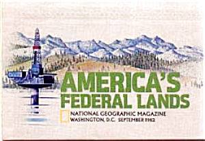 Federal Lands Map National Geographic 1982