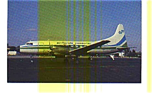 Air Florida Commuter CV 580 Airline Postcard (Image1)