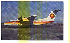 Golden West Dash 7 Airline Postcard May3207