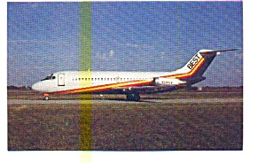 Best Airlines DC-9 Airline Postcard may3220 (Image1)