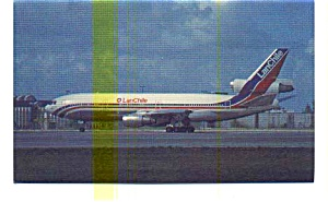 LanChile DC-10-30 Airline Postcard may3236 (Image1)