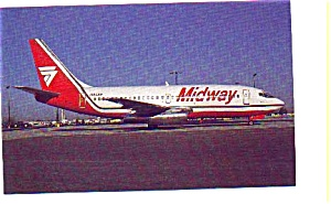 Midway 737-2T4 Airline Postcard may3279 (Image1)