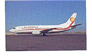 Sunworld 737-3Q8 Airline Postcard may3280 (Image1)
