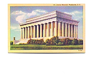 Lincoln Memorial Postcard (Image1)