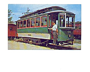 Boston  Trolley Postcard (Image1)