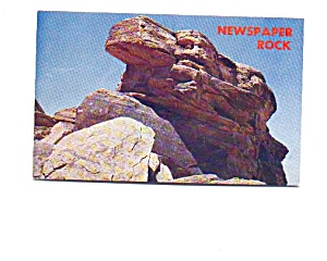 Newspaper Rock Petrified Forest AZ Postcard may3332 (Image1)