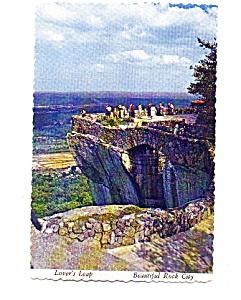 Lovers Leap Rock City TN Postcard may3334 (Image1)