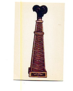 Ezra Brooks Gusher Bottle Postcard May3337