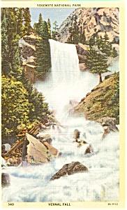 Vernal Fall Yosemite National Park CA Postcard n0046 (Image1)