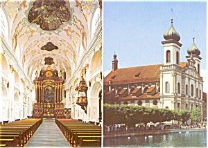 Lucerne Jesuit Church Postcard n0093 (Image1)