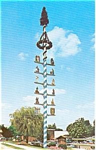 Maypole Frankenmuth MI  Postcard n0116 (Image1)