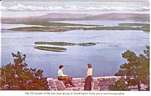 San Juan Group of Islands Washington Postcard n0163 (Image1)