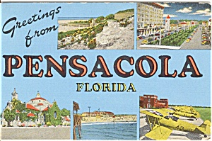 Greetings From Pensacola Postcard (Image1)