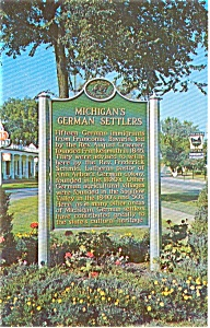 Michigan S German Settlers Sign Postcard N0205