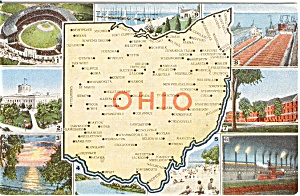 Ohio Map Multiview Postcard n0213 (Image1)
