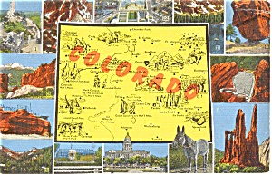 Colorado Map Multiview Postcard (Image1)