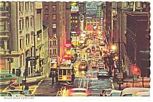 San Francisco Powell St Cable Cars Large Postcard n0258 (Image1)