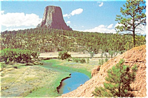 Devils Tower, Wyoming Postcard (Image1)