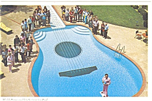 Nashville TN Webb Pierce and Guitar Swimming Pool n0438 (Image1)