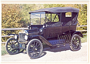 1916 Model T Ford Touring Postcard (Image1)