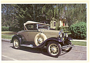 1930 Ford Model A Deluxe Roadster Postcard (Image1)