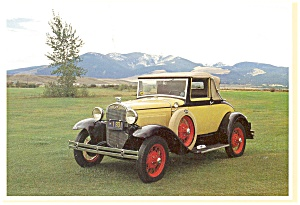 1931 Ford Model A Cabriolet Postcard (Image1)
