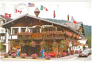 Leavenworth WA Der Markt Platz Postcard n0502 (Image1)