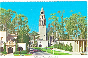 San Diego, CA, California Tower Postcard (Image1)