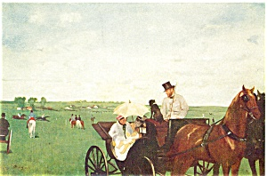 Carriages at the Races Artwork Postcard n0541 (Image1)