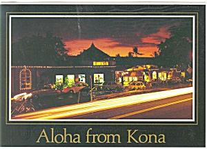 Kailua Kona HI  Alii Drive Postcard n0549 (Image1)