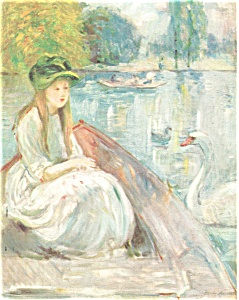 On The Lake Jeanne Fourmanoir Artwork Postcard n0571 (Image1)