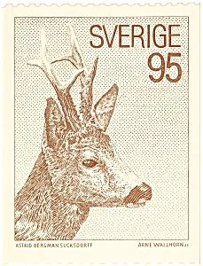 Sverige  Deer  Postcard (Image1)
