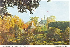 Williamsburg VA The Holly Maze Postcard n0616 (Image1)