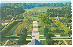 Williamsburg, VA Gardens at Governor's Palace Postcard (Image1)