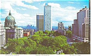 Montreal, Quebec, Dominion Square Postcard (Image1)